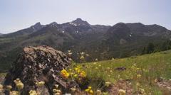 Seven Devils Mountain Peaks 90 Stock Footage