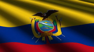 Stock Video Footage of Ecuador flag close-up