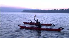 Stock Video Footage of Cascade Lake Kayak 1