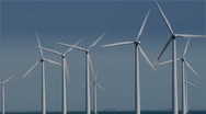 Stock Video Footage of Windpower at sea