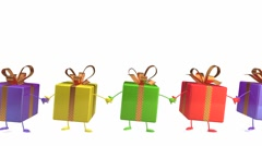 Gifts dancing Stock Footage