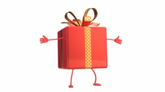 funny gift character - stock footage