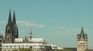 Cologne With the Cathedral Stock Footage