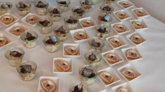 Dessert - stock footage
