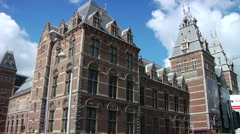 Clouds over classic Amsterdam building  Stock Footage