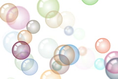 Motion background with moving soap bubbles - stock footage