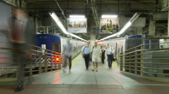 Grand Central Train Subway Platform - Time Lapse Clip 5 Stock Footage