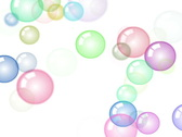 Motion background with moving soap bubbles Stock Footage