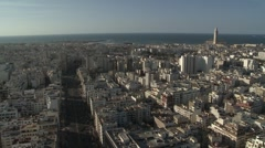 Stock Video Footage of Casablanca Skyline