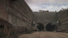 Tunnel Construction - stock footage