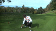 Stock Video Footage of Golfing on a gorgeous day (1 of 2)