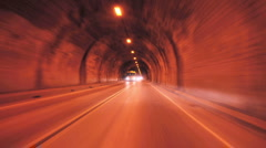 Driving though a tunnel - Time Lapse - Take 2 - stock footage