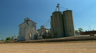 Grain Storage Facility  Stock Footage