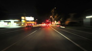 Stock Video Footage of Time lapse of Driving in Urban City - 2