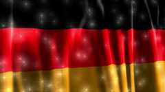 Germany Sparkling Flag Stock Footage