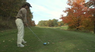 Stock Video Footage of Female golfer on an autumn day (3 of 3)