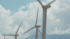 Wind Powered Turbines / Windmills - Time Lapse -  Clip 2 Stock Footage