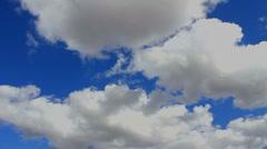 Time Lapse Vivid Blue Sky Stock Footage