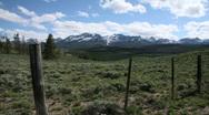 Sawtooth Mountain Range Timelapse Stock Footage