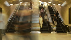 Stock Video Footage of Grand Central Station Time Lapse Crowd - Clip 6