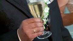 Wedding - Sparking Wine Stock Footage