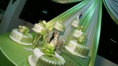 Wedding Cake - stock footage