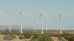 Wind Powered Turbines / Windmills - Time Lapse - Clip 7 Stock Footage