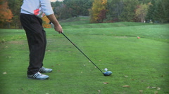 Rear view of amateur golf swing (2 of 3) Stock Footage
