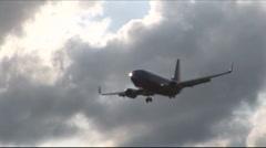 Plane landing 1 Stock Footage