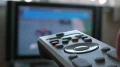 Television Remote Control - stock footage