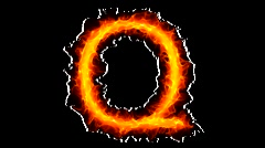 Fire letter Q HD - stock footage