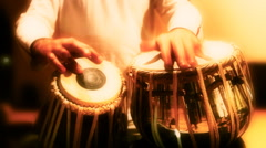 Tabla player01 Stock Footage