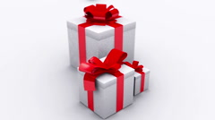 christmas gifts with - stock footage