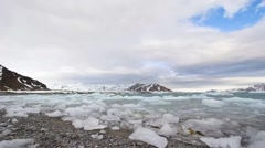 Arctic landscape - ice and clouds - timelapse video Stock Footage