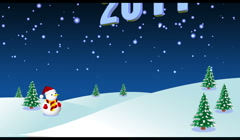 Happy New Year 2011 3d animation Stock Footage