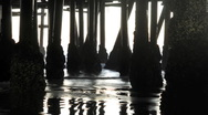 Under the Pier - Time Lapse - Clip 1 Stock Footage