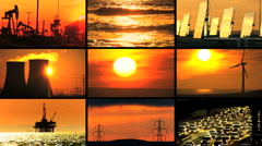 Montage Contrasting Environmental Energy Sources - stock footage