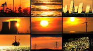 Montage Contrasting Environmental Energy Sources Stock Footage