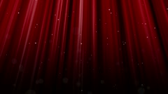 Red Curtain Stars Stock Footage