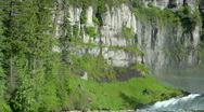 Mesa Falls Waterfall Pan 6 Stock Footage