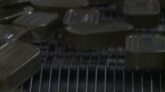 Conveyor Belt in a Moroccan Sardine Factory Stock Footage