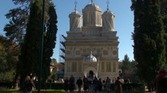 Episcopal Church Curtea de Argeș Stock Footage