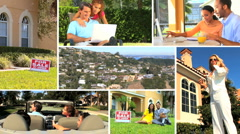 Montage of Suburban Real Estate Market Stock Footage