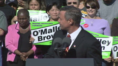 Governor Martin O'Malley  Stock Footage