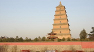 Big Wild Goose Pagoda of xi'an city in china  Stock Footage