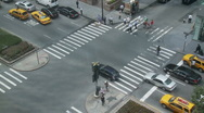 Stock Video Footage of NYC Crosswalk from Above - Time Lapse - 2