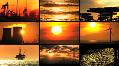 Montage of Contrasting Environmental Images Stock Footage