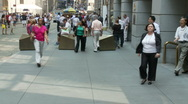 Crowds of people on Wall Street NYC - Time Lapse - 4 Stock Footage