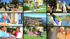 Montage of Suburban Living & Real Estate Stock Footage