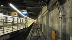 Grand Central Train Subway Platform - Time Lapse - stock footage